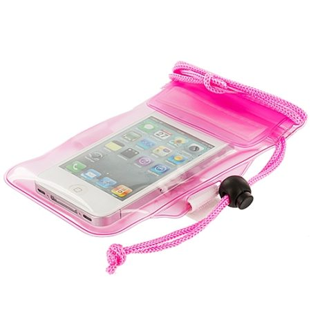Pink Waterproof Cell Phone Case
