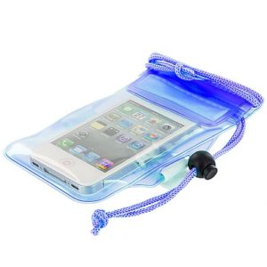 Blue Waterproof Cell Phone Case