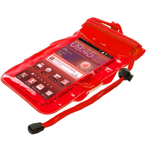 Red Waterproof Cell Phone Case
